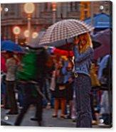 Waiting In The Rain Acrylic Print
