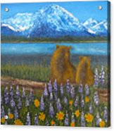 Waiting, 12x16, Oil, '07 Acrylic Print