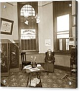 Waiting Room Of Dr. C. H. Pearce, D.d.s. Dentist, Watsonville,  Acrylic Print