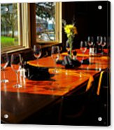 Waiting Table Acrylic Print by Lawrence Christopher