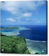 Wakaya Coastline Acrylic Print