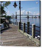 Walk Along The Fear River - Wilmington Acrylic Print