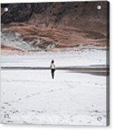Walk At The Beach  Acrylic Print