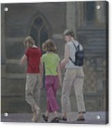 Walk In The City Acrylic Print
