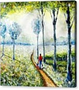 Walk Into The World Acrylic Print
