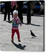 Walk Like A Pigeon Acrylic Print