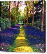 Walk Through Blue Acrylic Print