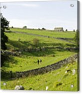 Walkers At Lathkill Dale Acrylic Print