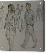 Walking Along The Strand Acrylic Print