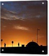 Walking At Sunset Acrylic Print
