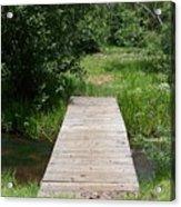 Walking Bridge Over River Acrylic Print