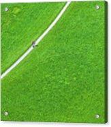 Walking Footpath In A Green Field Acrylic Print