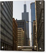 Walking In Chicago Acrylic Print