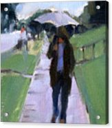 Walking In The Rain Acrylic Print