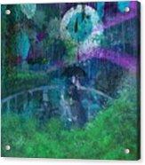 Walking In The Rain Acrylic Print