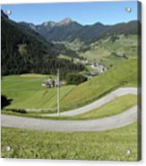 Walking Near Niederdorf In The Dolomites Acrylic Print