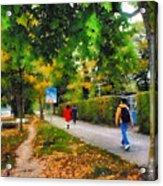 Walking On A Beautiful Path Acrylic Print