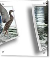 Walking On Water - Gently Cross Your Eyes And Focus On The Middle Image Acrylic Print