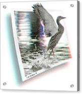 Walking On Water - Use Red-cyan 3d Glasses Acrylic Print