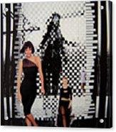 Walking Straight Curve Cut Cane Acrylic Print