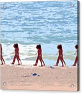 Walking The Beach Acrylic Print