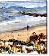 Walking The Beach On Long Beach Island Acrylic Print