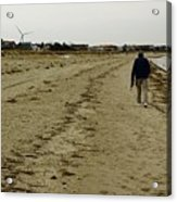 Walking The Beach Acrylic Print