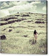 Walking The Field Acrylic Print