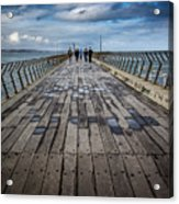 Walking The Pier Acrylic Print