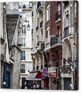 Walking The Streets Of Paris Acrylic Print