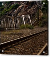 Walking The Tracks Acrylic Print