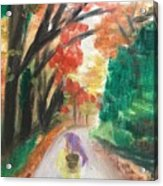 Walking Through The Woods Acrylic Print