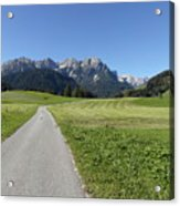 Walking To Niederdorf In The Dolomites Acrylic Print