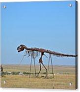 Walking Your T-rex Acrylic Print