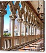Walkway At The Venetian Hotel Acrylic Print