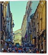 Walkway Over The Street - Lisbon Acrylic Print