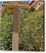Wall Arch Arches Utah Acrylic Print