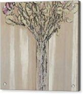 Wall Flower Decoration Acrylic Print