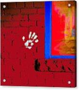 Wall Hand Face Acrylic Print