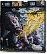 Wall In Fire Acrylic Print