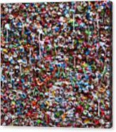 Wall Of Chewing Gum Seattle Acrylic Print