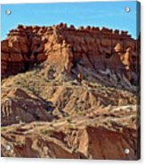 Wall Of Goblins Along  Carmel Canyon Trail In Goblin Valley State Park, Utah   Acrylic Print
