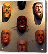 Wall Of Masks 2 Acrylic Print