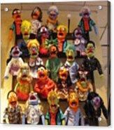 Wall Of Muppets Acrylic Print by Choi Ling Blakey