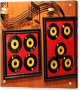 Wall Of Records Acrylic Print