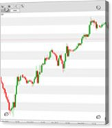 Wall Street 1 Hour Chart 08/08/2018 Close Acrylic Print
