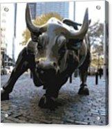 Wall Street Bull Color 16 Acrylic Print