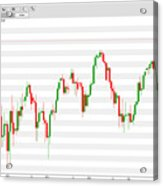 Wall Street Daily Chart 08/08/2018 Close Acrylic Print