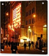 Wall Street Evening Acrylic Print