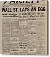 Wall Street Lays An Egg. Famous Acrylic Print